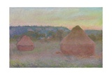Stacks of Wheat (End of Day, Autumn), 1890-91 Giclée-Druck von Claude Monet
