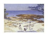 Beach at Cabasson (Baigne-Cul), 1891-92 Giclee Print by Henri-Edmond Cross