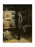 The Print Collector, C.1857-63 Reproduction procédé giclée par Honore Daumier