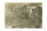 Drilling for a Shot: Old-Fashioned Way of Mining Coal, 1921 Giclee Print by Lewis Wickes Hine