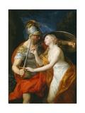 Peace and War, 1776 Giclée-tryk af Pompeo Girolamo Batoni