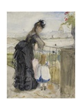 On the Balcony, 1871-72 Giclee Print by Berthe Morisot