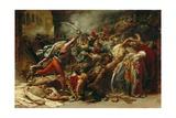 The Revolt of Cairo, C.1810 Giclée-tryk af Anne-Louis Girodet de Roussy-Trioson