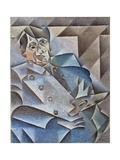 Portrait of Pablo Picasso, January-February 1912 Giclée-tryk af Juan Gris