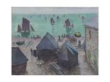 The Departure of the Boats, Étretat, 1885 Impressão giclée por Claude Monet