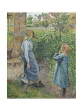 Woman and Child at the Well, 1882 Reproduction procédé giclée par Camille Pissarro