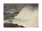 Prout's Neck, Breaking Wave, 1887 Giclee Print by Winslow Homer
