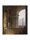 The Obelisk, 1787-88 Reproduction procédé giclée par Hubert Robert