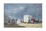 Approaching Storm, 1864 Reproduction procédé giclée par Eugene Louis Boudin