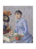 The Milliner, C.1877 Giclee-trykk av Eva Gonzales