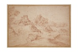 Landscape with a Castle, 1716-18 Giclee Print by Jean Antoine Watteau