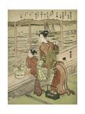Double-Flowered Cherry: Motoura of the Minami Yamasakiya, C.1768-69 Giclee Print by Suzuki Harunobu