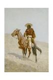 A Mexican Vaquero, 1890 Giclee-trykk av Frederic Remington
