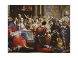The Wedding at Cana, C.1686 Giclée-tryk af Giuseppe Maria Crespi