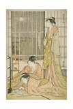 The Ninth Month, from the Series Twelve Months in the South (Minami Juni Ko), C.1784 Giclee Print by Torii Kiyonaga