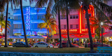 Art Deco District, Ocean Drive, South Beach, Miami Beach, Miami, Florida, USA Photographic Print by Gavin Hellier