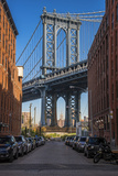 View Toward Manhattan Bridge with the Empire State Building in the Background, Brooklyn, New York Photographic Print by Stefano Politi Markovina