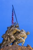 Time Lapse of the Statue of Iwo Jima U S Marine Corps Memorial at Arlington National Cemetery Photographic Print by Gavin Hellier