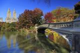Usa, New York City, Manhattan, Central Park, Bow Bridge Impressão fotográfica por Michele Falzone