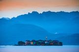 Isola Dei Pescatori (Fishermen's Islands) Illuminated at Sunset, Borromean Islands, Lake Maggiore Photographic Print by Doug Pearson