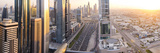 Elevated View over Downtown and Sheikh Zayed Road Looking Towards the Burj Kalifa, Dubai Fotografie-Druck von Peter Adams