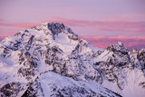 Sunrise on the Disgrazia Mountain in Winter, Malenco Valley, Lombardy, Italy Impressão fotográfica por  ClickAlps
