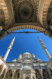 Inner Courtyard Low Angle View of Yeni Cami or New Mosque, Istanbul, Turkey Photographic Print by Stefano Politi Markovina