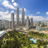 Petronas Towers and Klcc, Kuala Lumpur, Malaysia Fotografie-Druck von Peter Adams