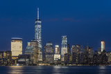 Night View of One World Trade Center and Lower Manhattan Financial Center, Manhattan, New York, USA Photographic Print by Stefano Politi Markovina