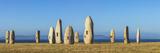 Menhirs Standing Stones, Paseo Dos Menhires, La Coruna, (A Coruna), Galicia, Spain Fotografie-Druck von Peter Adams