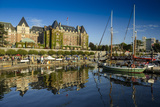 Canada, British Columbia, Vancouver Island, Victoria, Harbor and Empress Hotel Photographic Print by Christian Heeb