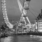 London Eye (Millennium Wheel) and Former County Hall, South Bank, London, England Fotografie-Druck von Jon Arnold