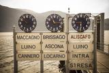 Ferry Terminal Timetable, Cannobio, Lake Maggiore, Piedmont, Italy Photographic Print by Doug Pearson