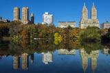 Fall Foliage at Central Park with Upper West Side Behind, Manhattan, New York, USA Impressão fotográfica por Stefano Politi Markovina