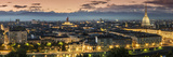 Panoramic View at Dusk, Turin, Piedmont, Italy Photographic Print by Stefano Politi Markovina