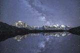 Starry Sky over Mont Blanc Range Seen from Lac De Chesery. Haute Savoie. France Europe Impressão fotográfica por  ClickAlps