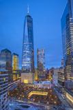 One World Trade Center and 911 Memorial, Lower Manhattan, New York City, New York, USA Fotoprint av Jon Arnold