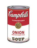 Campbell's Soup I: Onion, 1968 Posters by Andy Warhol