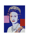 Reigning Queens: Queen Elizabeth II of the United Kingdom, 1985 (blue) Posters by Andy Warhol