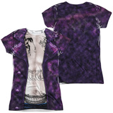 Juniors: Suicide Squad- Joker Costume Tee (Front/Back) Womens Sublimated