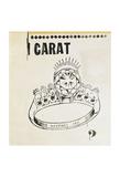 Carat, 1961 Art by Andy Warhol