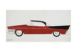 Car, c.1959 (red) Plakater af Andy Warhol