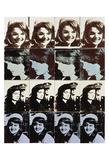 Sixteen Jackies, 1964 Plakat af Andy Warhol