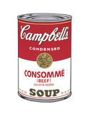 Campbell's Soup I: Consomme, 1968 Art by Andy Warhol