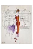 Untitled (Female Fashion Figure), c. 1959 Posters by Andy Warhol