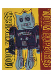 Moon Explorer Robot, 1983 (blue & yellow) Stampe di Andy Warhol