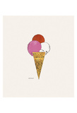 Ice Cream Dessert, c. 1959 (red, pink, and white) Affiches par Andy Warhol