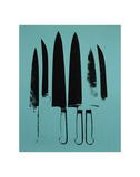 Knives, c. 1981-82 (Aqua) Posters by Andy Warhol