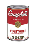Campbell's Soup I: Vegetable, 1968 Posters by Andy Warhol