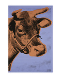 Cow, 1971 (purple & orange) Posters by Andy Warhol